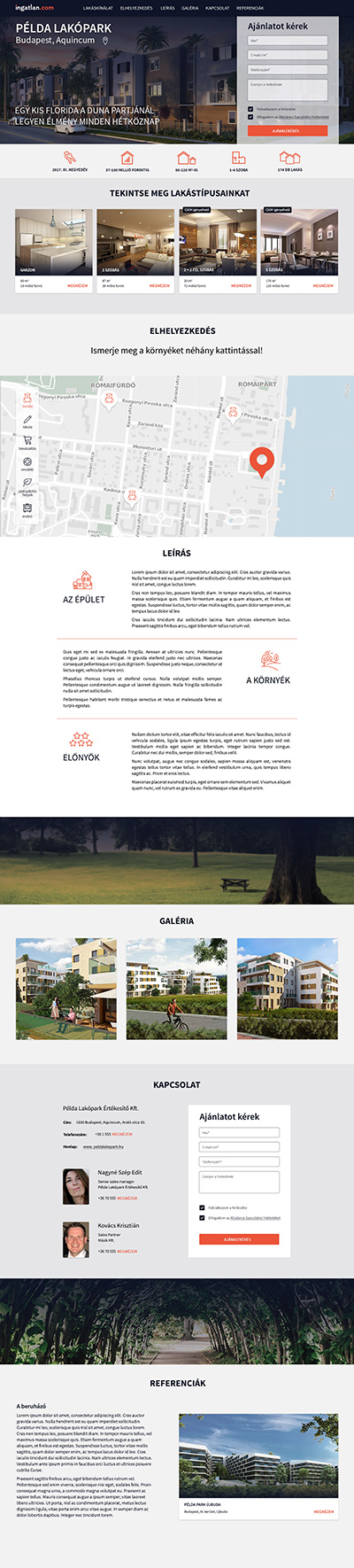 Projekt-oldal